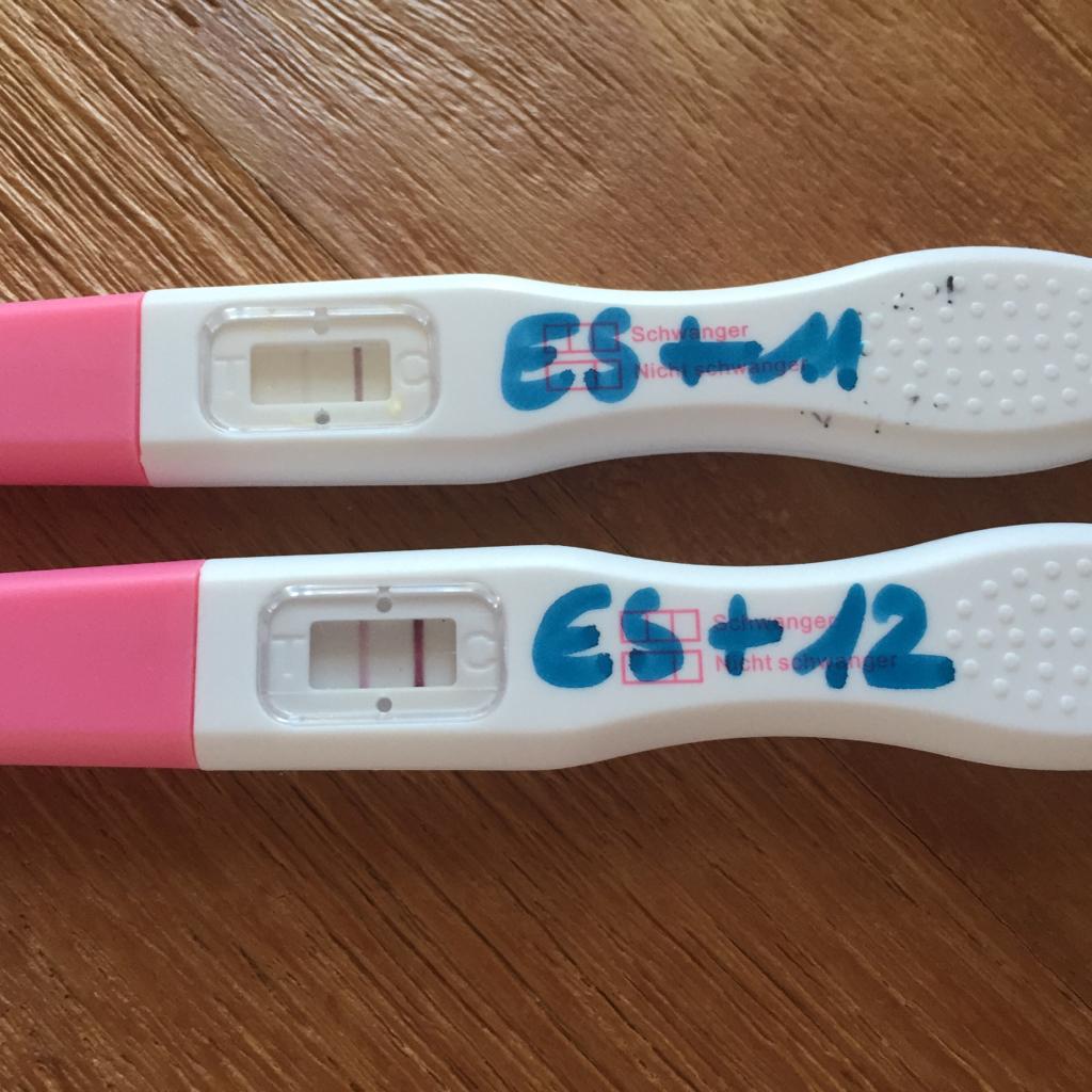 Schwangerschaftstest Linie Kaum Sichtbar